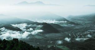 Prachtig landschap van Furlo, Marche Italië stock foto