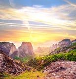 Prachtig magisch landschap in de beroemde vallei van de Meteoor royalty-vrije stock foto