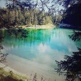Prachtig meer in Oostenrijk royalty-vrije stock fotografie
