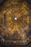 Prachtig mozaïekplafond van de Doopkapel van San Giovanni Royalty-vrije Stock Afbeeldingen