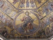 Prachtig mozaïekplafond van de Doopkapel van San Giovanni, Flo Stock Afbeelding