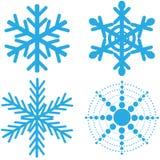 Prachtig ontwerp van blauwe vierde sneeuwvlokken op de witte achtergrond vector illustratie