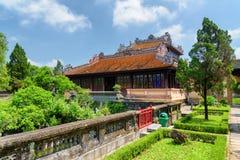 Prachtig paviljoen in toneeltuin van de Keizerstad, Tint royalty-vrije stock afbeelding