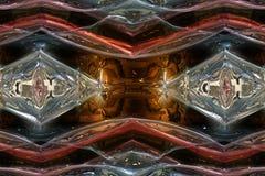 Prachtig samenvatting geïllustreerd glasontwerp Stock Afbeeldingen