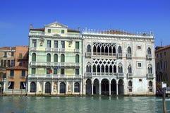 Prachtig Venetiaans Paleis Stock Foto