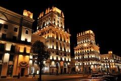 Prachtig verlichte gebouwen Royalty-vrije Stock Afbeeldingen
