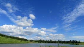 Prachtige de daghemel van de landschapszomer Royalty-vrije Stock Foto