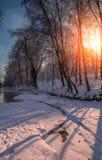 prachtige de winterscène Royalty-vrije Stock Afbeelding