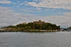 Prachtige eilandmening van het overzees stock afbeeldingen