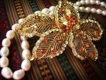Gouden Haarspeld royalty-vrije stock afbeelding
