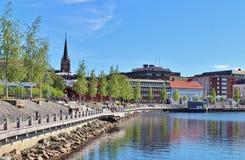 Prachtige juni-dag in Luleå Stock Fotografie