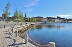 Prachtige juni-dag in Luleå Stock Afbeeldingen