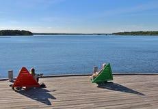 Prachtige juni-dag in Luleå Royalty-vrije Stock Foto's