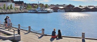 Prachtige juni-dag in Luleå Royalty-vrije Stock Foto