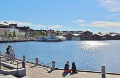 Prachtige juni-dag in Luleå Stock Afbeelding