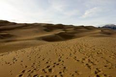 Prachtige kleuren van het Groot Nationaal Park van Zandduinen en Domein, San Luis Valley, Colorado, Verenigde Staten royalty-vrije stock foto