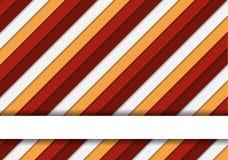 Prachtige kleurrijke gestreepte achtergrond in warme kleuren en één tex Stock Foto