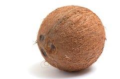 Prachtige kokosnoot op een witte achtergrond. Stock Foto's