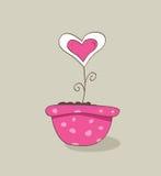 Prachtige liefdehoed vector illustratie
