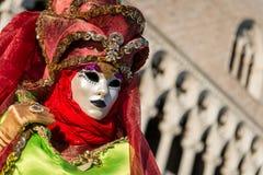 Het Masker van Carnaval in Venetië Stock Foto