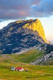 Prachtige mening aan bergen in het nationale park Durmitor Montenegro de Balkan Europa Karpatisch, de Oekraïne, Europa Autumn Lan Stock Foto
