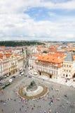 Prachtige Mening aan de Stad van Praag in Tsjechische Republiek stock foto's