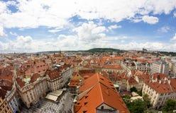 Prachtige Mening aan de Stad van Praag in Tsjechische Republiek royalty-vrije stock foto's