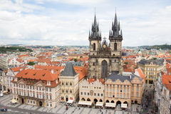 Prachtige Mening aan de Stad van Praag in Tsjechische Republiek royalty-vrije stock afbeeldingen