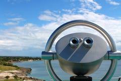 Prachtige mening met vaste verrekijkers op een Caraïbisch Eiland Royalty-vrije Stock Fotografie