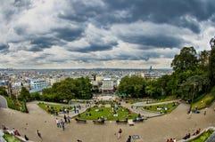 Prachtige mening van Montmartre, Parijs Stock Afbeelding