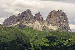Prachtige mening van Sassolungo Dolomiet Italië royalty-vrije stock fotografie