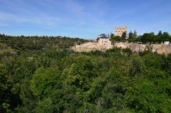 Prachtige Meningen van het Alcazar-Kasteel in Segovia Architectuur, Reis, geschiedenis J royalty-vrije stock afbeeldingen