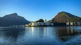 Prachtige plaatsen in de wereld Lagune en buurt van Ipanema in Rio de Janeiro, Brazilië stock afbeelding
