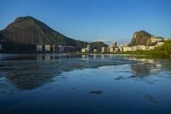 Prachtige plaatsen in de wereld Lagune en buurt van Ipanema in Rio de Janeiro, Brazilië stock fotografie