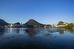Prachtige plaatsen in de wereld Lagune en buurt van Ipanema in Rio de Janeiro, Brazilië royalty-vrije stock afbeeldingen
