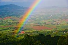 Prachtige Regenboog in Thailand Stock Foto's