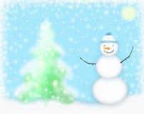 Prachtige sneeuwman Stock Foto