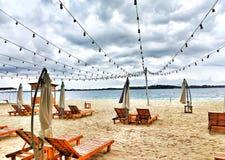 prachtige strandmening in bintan eiland royalty-vrije stock afbeeldingen