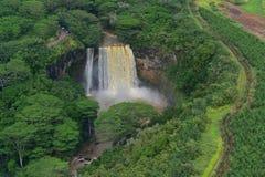 Prachtige Wailua-Dalingen van Kauai Royalty-vrije Stock Afbeeldingen