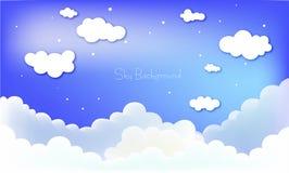 Prachtige wolken op blauwe hemelachtergrond Royalty-vrije Stock Foto's