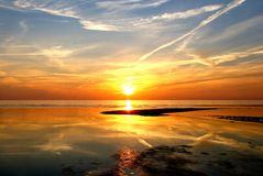 Prachtige zonsondergang royalty-vrije stock foto's