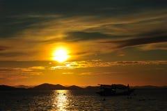 Prachtige zonsondergang Stock Foto's