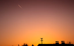 Prachtige zonsondergang Royalty-vrije Stock Foto