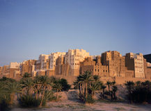 Shibam riep ook Manhattan van Yemen royalty-vrije stock afbeelding