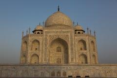 Prachtige zonsopgang in Taj Mahal, India Stock Foto