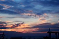 Prachtvoller Sonnenuntergang lizenzfreie stockfotografie