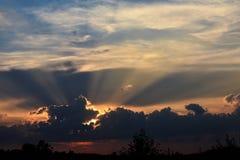 Prachtvoller Sonnenuntergang stockbilder