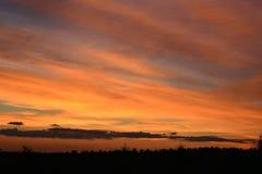 Prachtvoller Sonnenuntergang stockfoto