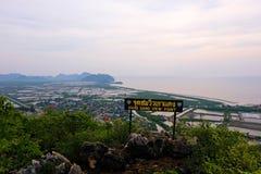 Prachuap aéreo Kirikan, Tailandia - 25 de abril de 2018: Punto de opinión de Khao Dang, Imagen de archivo libre de regalías
