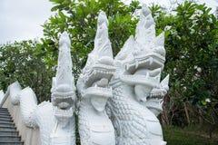 Prachuap Khiri Khan,泰国- 2017年4月, 18日:雕象白色N 免版税库存图片